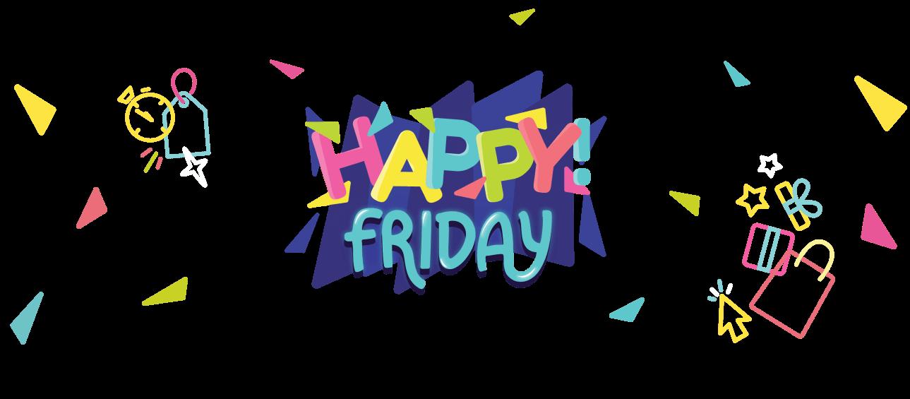 """Imagem com o texto """"Hapy Friday"""""""